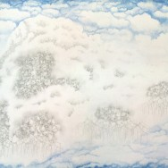 "Cloud Machine, 2012 24"" x 36"" Ink and Graphite on Vellum"